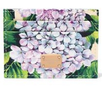 Dauphine Kartenetui Aus Strukturiertem Leder Mit Floralem Print -