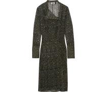 Rosalind Kleid aus Seiden-Georgette mit Leopardenprint