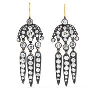Collection Budding Flower Dart Ohrringe aus 18 Karat  mit Diamanten