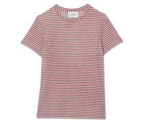 Guy T-shirt Aus Jersey Aus Einer Leinenmischung Mit Streifen -