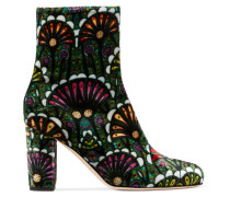 Talise bedruckte Ankle Boots aus Samt