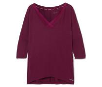 Sculpted Pyjama-oberteil Aus Stretch-modal Mit Mesh-einsatz -