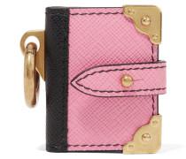 Schlüsselanhänger Aus Strukturiertem Leder - Pink