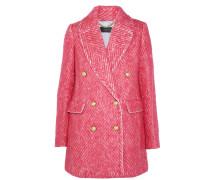 Coco Doppelreihiger Mantel Aus Tweed - Bonbonrosa