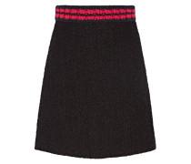 Minirock Aus Tweed - Schwarz