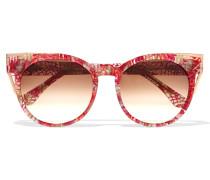 Monogamy Sonnenbrille Mit Cat-eye-rahmen Aus Azetat Mit Roségoldfarbenen Details - Rot