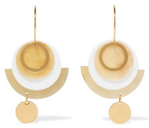 Goldfarbene Ohrringe Aus Acryl Und Horn