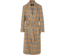 Karierter Mantel Aus Wolle -