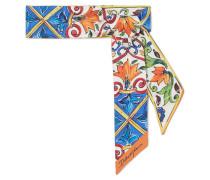 Maiolica Bedrucktes Tuch aus Seiden-twill -