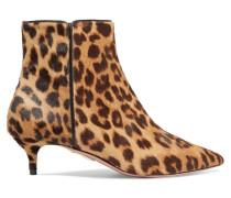 Quant Ankle Boots Aus Kalbshaar Mit Leopardenprint -