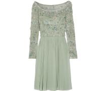Kleid Aus Tüll Und Seiden-georgette Mit Verzierung - Mint