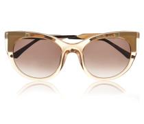 Bunny Vergoldete Sonnenbrille Mit Cat-eye-rahmen Aus Azetat - Pastellgelb