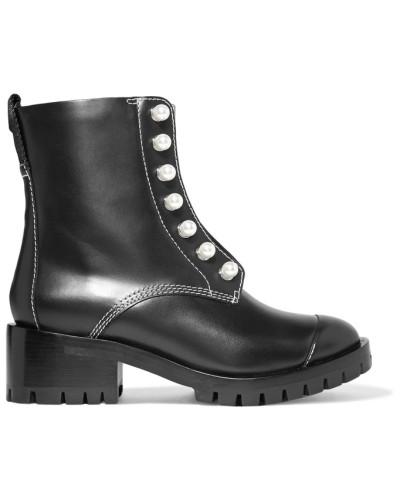 3.1 phillip lim Damen Lug Sole Zipper Verzierte Ankle Boots aus Leder