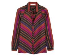 Chrissie Bedruckte Bluse Aus Seiden-twill - Violett