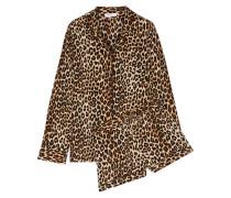 Lillian Pyjama Aus Vorgewaschener Seide Mit Leopardenprint - Leoparden-Print