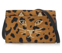 Feline Schultertasche Aus Kalbshaar Mit Leopardenprint - Leoparden-Print