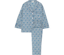 Marina Floral Bedruckter Pyjama Aus Baumwolle -