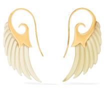 Wing Ohrringe Aus 18 Karat  Und Horn