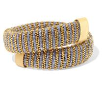 Caro Armband Aus Metallic-baumwolle Mit Vereten Details