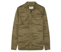 The Perfect Hemd Aus Baumwoll-twill Mit Camouflage-print - Armeegrün