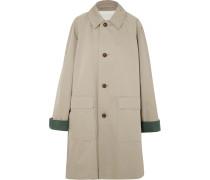 Mantel Aus Baumwoll-gabardine -