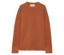 Oversized-pullover Aus Stretch-strick Mit Reißverschlussdetails - Orange