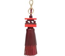 Schlüsselanhänger Aus Leder Mit Troddel - Rot