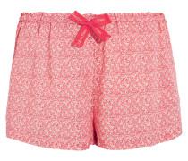 Bedruckte Pyjama-shorts Aus Voile - Puder