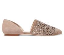 Globe Flache Schuhe Mit Cut-outs Und Kristallverzierung - Taupe