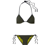 Wendbarer Triangel-bikini mit Print -