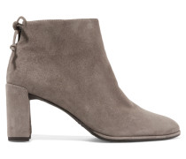Lofty Ankle Boots Aus Veloursleder -