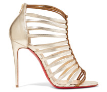 Milla 100 Ledersandalen In Metallic-optik - Gold