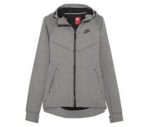 Tech Fleece Kapuzenoberteil Aus Baumwoll-jersey Mit Stretch-anteil - Grau