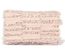 Verzierte Clutch Aus Georgette - Pink