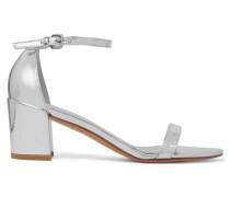 Sandalen Aus Metallic-leder - Silber