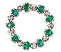 Armband Aus 18 Karat Gold Und Sterling Mit Smaragden Und Diamanten