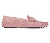 Loafers Aus Glanzleder Mit Krokodileffekt - Pink