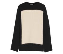 Zweifarbiger Pullover aus Wolle