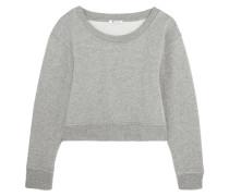 Verkürztes Sweatshirt Aus Jersey Aus Stretch-baumwolle - Grau