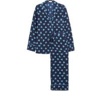 Avery bedruckter Pyjama aus vorgewaschener Seide