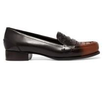 Loafers Aus Intrecciato-leder Mit Farbverlauf -