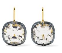 Collection Teilweise Versilberte Ohrringe aus 18 Karat  mit Topasen