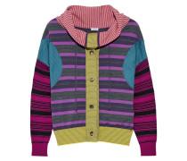 Gestreifter Pullover Aus Einer Wollmischung - Lila