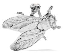 Bug Palladiumfarbene Ohrclips - Silber