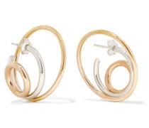 Richoche Ohrringe Aus 18 Karat , Silber Und Rosé
