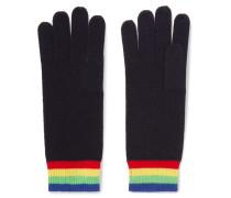 Elba Handschuhe aus Kaschmir mit Streifen -