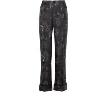 Etere Bedruckte Pyjama-hose Aus Seiden-twill -