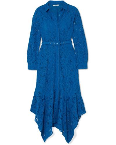 Asymmetrisches Kleid aus Schnurgebundener Spitze