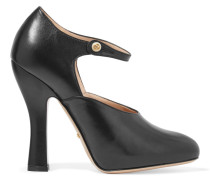 Mary-jane-pumps Aus Leder - Schwarz