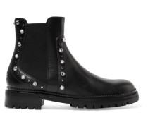 Burrow Verzierte Ankle Boots aus Leder -